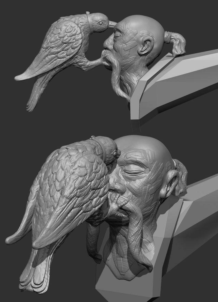 deux plan d'une poignée en 3D grise
