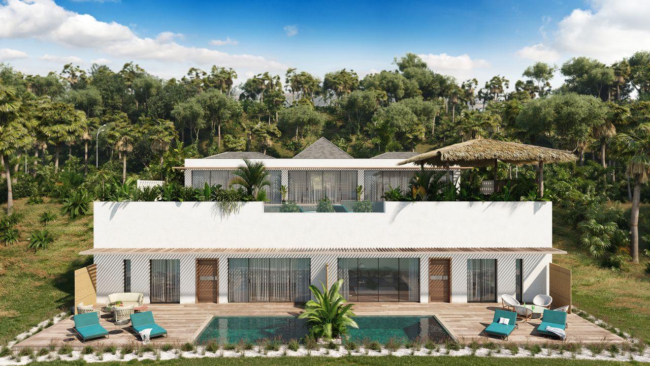 villa en entière avec piscine