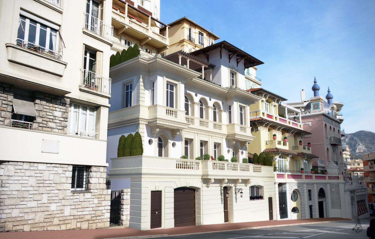 dessin 3D d'un immeuble vue d'en bas
